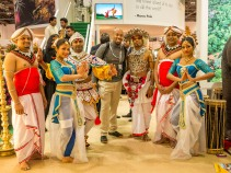 Erick with Sri Lankan dancers at the World Travel Market in London
