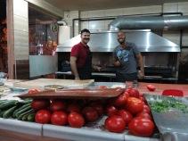 Erick making kebabs in Instanbul