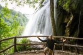 Erick at Plitvice Lakes National Park in Croatia