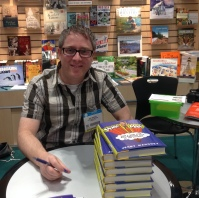 Jerry Mahoney, ready to sign his book