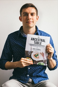 Russ holding The Ancestral Table
