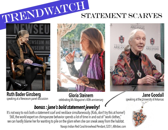 Stay on-trend with Ginsberg, Steinem, and Goodall by reading ladypockets.com